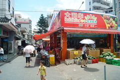 Shenzhen, China: the streets of the ancient city of Nantou landscape Royalty Free Stock Photos