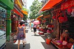Shenzhen, China: the streets of the ancient city of Nantou landscape Stock Photography