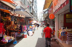 Shenzhen, China: the streets of the ancient city of Nantou landscape Royalty Free Stock Photography