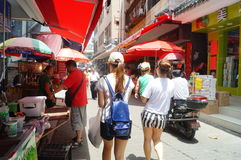 Shenzhen, China: the streets of the ancient city of Nantou landscape Royalty Free Stock Images