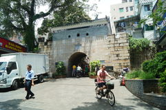 Shenzhen, China: the streets of the ancient city of Nantou landscape Stock Images
