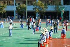 Shenzhen, China: Students skipping game Stock Image