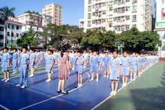 Shenzhen china: students to conduct activities Royalty Free Stock Photo