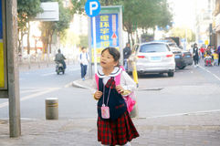 Shenzhen, China: students walk home after school Royalty Free Stock Photography