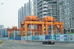 Shenzhen, China: subway construction Royalty Free Stock Photos