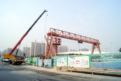 Shenzhen, china: subway construction site Stock Images