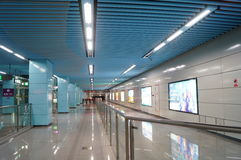 Shenzhen, China: subway station Royalty Free Stock Image