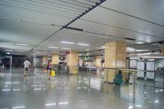 Shenzhen, China: subway station Stock Images