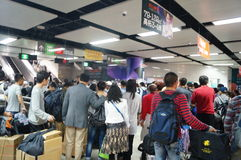 Shenzhen, China: subway station Royalty Free Stock Photography