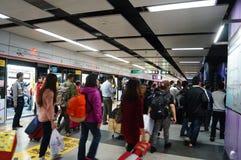 Shenzhen, China: subway station Stock Photography