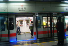 Shenzhen, China: subway station Royalty Free Stock Images