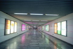 Shenzhen, China: subway station Stock Images