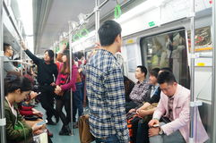Shenzhen, China: subway traffic landscape Stock Images