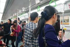 Shenzhen, China: subway traffic landscape Royalty Free Stock Photography