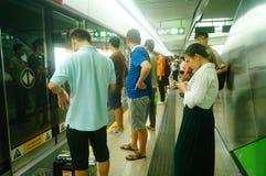 Shenzhen, China: subway traffic Royalty Free Stock Photo