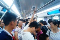 Shenzhen, China: subway traffic Stock Images