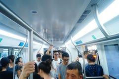 Shenzhen, China: subway traffic Royalty Free Stock Photography