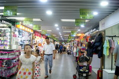 Shenzhen, China: the subway underground mall landscape Royalty Free Stock Image
