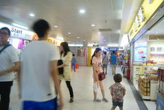 Shenzhen, China: the subway underground mall landscape Royalty Free Stock Photo