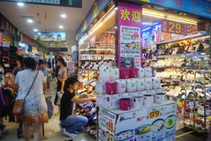 Shenzhen, China: the subway underground mall landscape Royalty Free Stock Photo