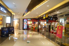 Shenzhen, China: the subway underground mall landscape Stock Photography