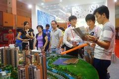 Shenzhen, China: summer housing trade fair Stock Image