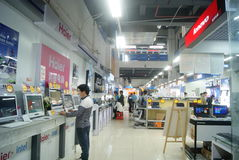 Shenzhen, China: Suning Appliance stores. Suning Appliance stores in Shenzhen Baoan Xixiang, with a computer, mobile phone, digital cameras and other goods Stock Images