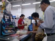 Shenzhen, China: supermarket checkout landscape Stock Image