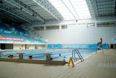 Shenzhen china: swimming pool Royalty Free Stock Image
