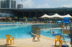 Shenzhen, China: swimming pool Stock Images