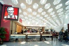 Shenzhen, china: t3 terminal in the kfc restaurant Royalty Free Stock Photo