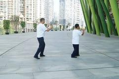 Shenzhen, China: Taijiquan Exercise Royalty Free Stock Images
