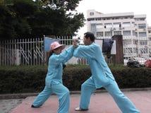 Shenzhen, China: Taijiquan Exercise Stock Photo