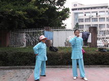 Shenzhen, China: Taijiquan Exercise Royalty Free Stock Photo