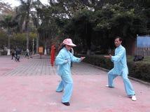 Shenzhen, China: Taijiquan Exercise Stock Image