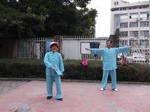 Shenzhen, China: Taijiquan Exercise Stock Photography