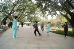 Shenzhen, China: Taijiquan Royalty Free Stock Image