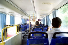 Shenzhen china: take the bus Royalty Free Stock Photo