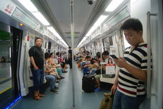 Shenzhen, China: take the subway Royalty Free Stock Image