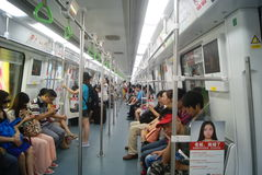 Shenzhen, China: take the subway Royalty Free Stock Images