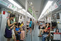 Shenzhen, China: take the subway Royalty Free Stock Photography