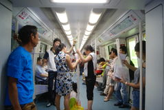 Shenzhen, China: take the subway Royalty Free Stock Photos