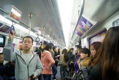 Shenzhen, china: take the subway Stock Image