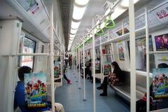 Shenzhen, china: take the subway Royalty Free Stock Image