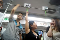 Shenzhen china: take the subway people come home from work Royalty Free Stock Photography