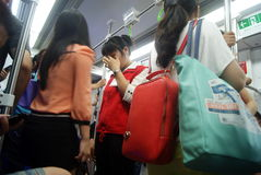 Shenzhen china: take the subway people come home from work Royalty Free Stock Image