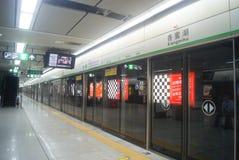 Shenzhen, China: take the subway traffic Stock Images