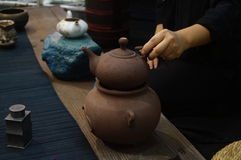 Shenzhen, China: tasting tea drinks Royalty Free Stock Photo