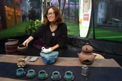 Shenzhen, China: tasting tea drinks Royalty Free Stock Photography