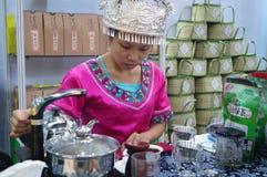 Shenzhen, China: tasting tea drinks Royalty Free Stock Images